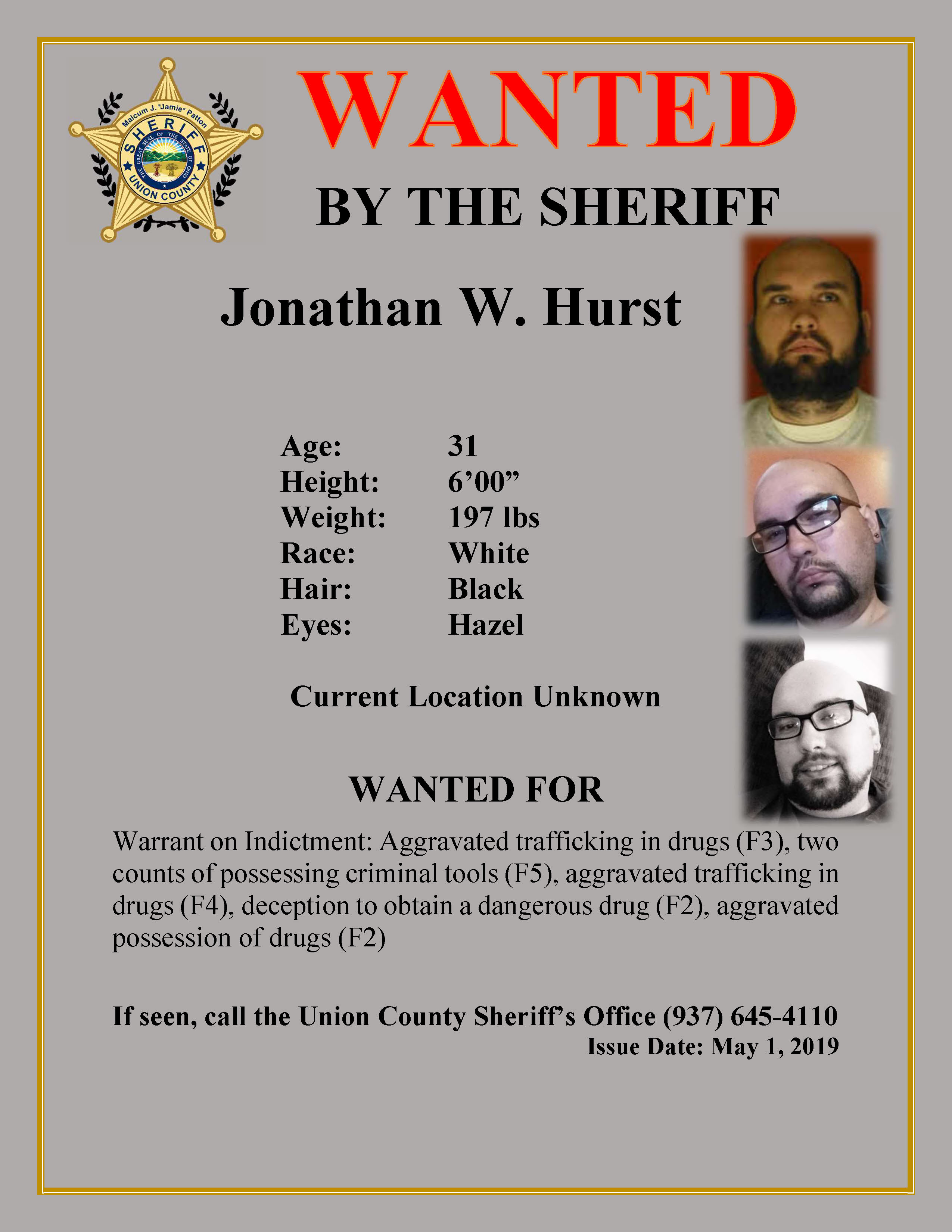 Union County, OhioUnion County Most Wanted